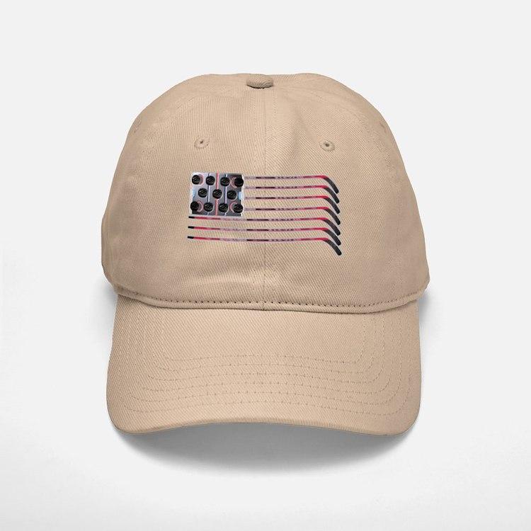 US Hockey Flag Baseball Baseball Cap