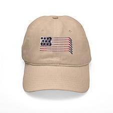 US Hockey Flag Baseball Cap
