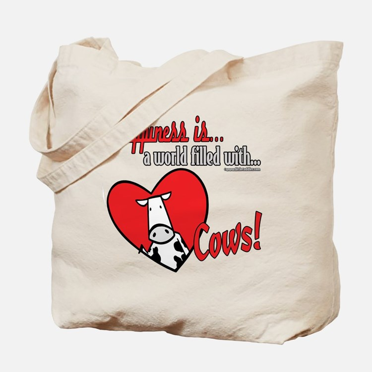 Happiness is Cows Tote Bag