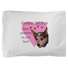 australian cattle dogs pawprints.png Pillow Sham