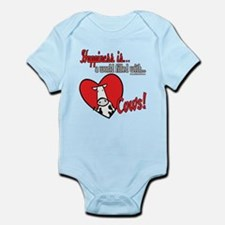 Happiness is Cows Infant Bodysuit