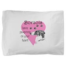 borzois pawprints.png Pillow Sham