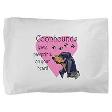 coonhounds pawprints dark.png Pillow Sham
