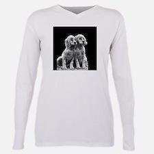 english setter pups round.png Plus Size Long Sleev