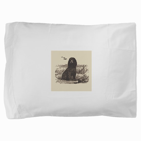 Cute Irish water spaniel Pillow Sham