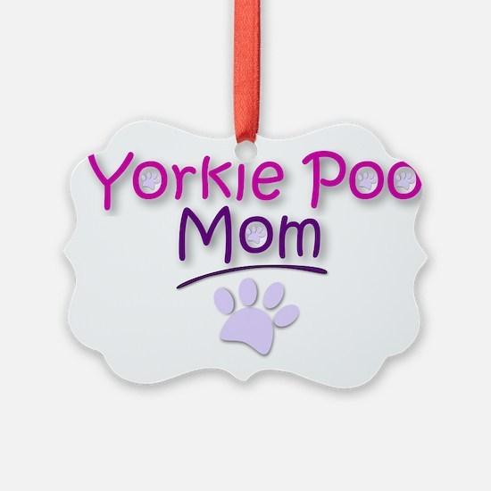 Yorkie Poo Mom Ornament