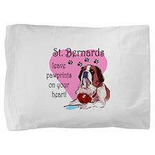 St. Bernards pawprints.png Pillow Sham