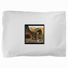 Cute Scottish deerhound Pillow Sham