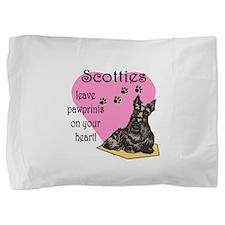 scotties pawprints new.png Pillow Sham