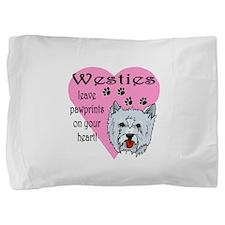 westies paw prints1.png Pillow Sham