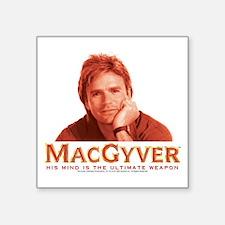 "MacGyver: Reddish Square Sticker 3"" x 3"""