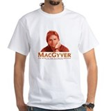 Macgyver tv Mens White T-shirts