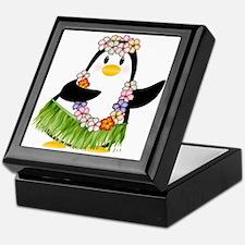 Tropical Penguin Keepsake Box