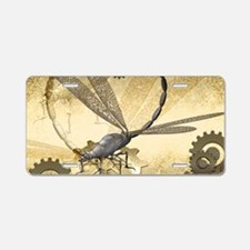 Steampunk, awesome steam dragonfly Aluminum Licens