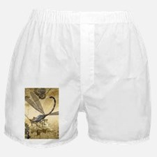 Steampunk, awesome steam dragonfly Boxer Shorts