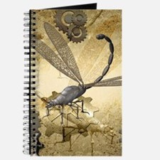 Steampunk, awesome steam dragonfly Journal