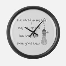 Voices in My Head Large Wall Clock