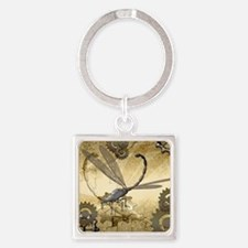Steampunk, awesome steam dragonfly Keychains