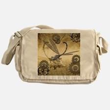 Steampunk, awesome steam dragonfly Messenger Bag