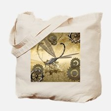 Steampunk, awesome steam dragonfly Tote Bag