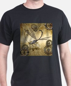 Steampunk, awesome steam dragonfly T-Shirt