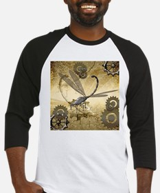 Steampunk, awesome steam dragonfly Baseball Jersey