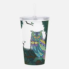 Owl Acrylic Double-wall Tumbler