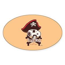 Peanuts Snoopy Fierce Sticker (Oval)