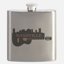 Nashville Guitar Skyline-05 Flask