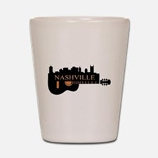 Nashville Guitar Skyline-05 Shot Glass