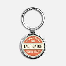 fabricator vintage logo Round Keychain