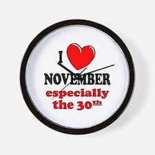 November 30th Wall Clock
