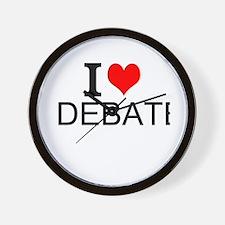 I Love Debate Wall Clock