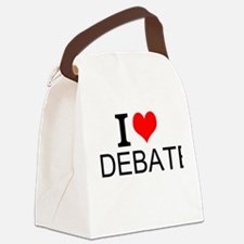 I Love Debate Canvas Lunch Bag