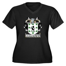 Gallagher Coat of Arms Women's Plus Size V-Neck Da