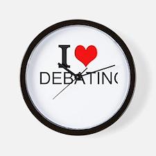 I Love Debating Wall Clock