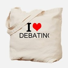 I Love Debating Tote Bag