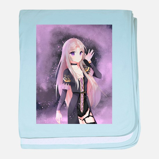 Beautiful anime girl baby blanket