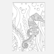 Funny Sea horse Postcards (Package of 8)