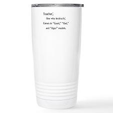Cute Garfield teacher Travel Mug