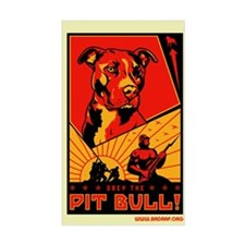 Obey the Pit Bull! Rectangle Decal