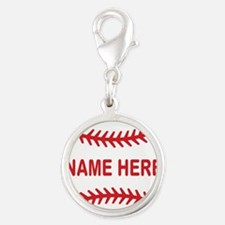 Baseball Laces Personalzied Name Charms