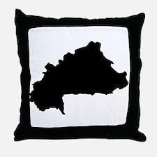 Burkina Faso Silhouette Throw Pillow