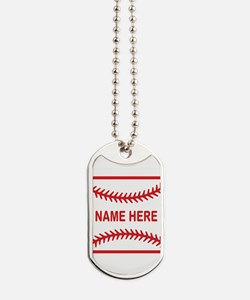 Baseball Laces Personalzied Name Dog Tags