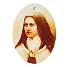 St. Therese Oval Ornament