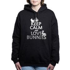 Unique Cute bunny Women's Hooded Sweatshirt