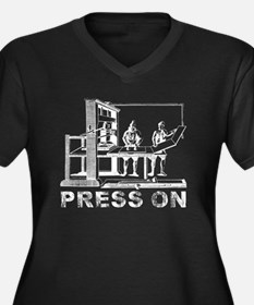 Press On Plus Size T-Shirt