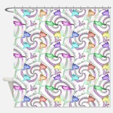 lollipop kittens Shower Curtain