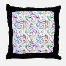 lollipop kittens Throw Pillow