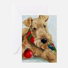 Cute Airedale terrier christmas Greeting Cards (Pk of 20)